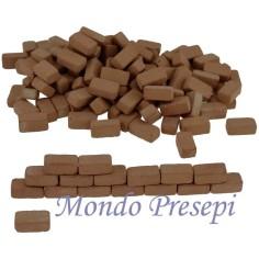 Mondo Presepi Mattoncini in terracotta chiara mm 6x12x5