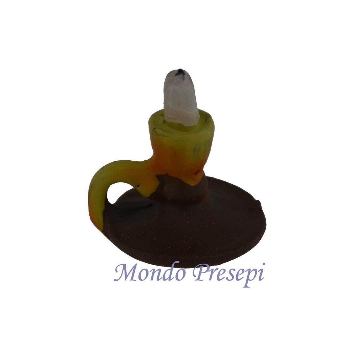 Bugia in cotto cm 1 8 mondo presepi for Bugia candela