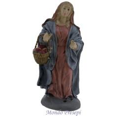 Uomo con pecora a spalle cm 14 485-7