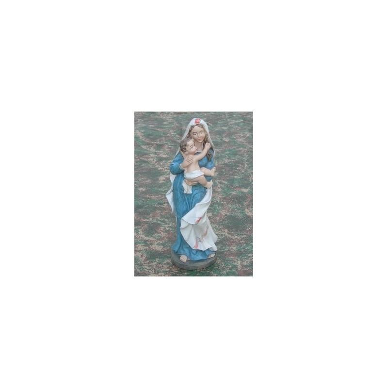 Mondo Presepi Madonna cm 21 con bambino in braccio - Cod. SCM21