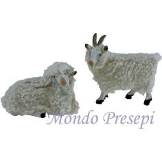 Set 2 pz capra con pecora per statue cm 15-20