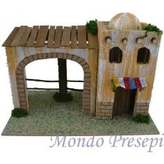Mondo Presepi Casa Araba con porticato cm 22x13x16 h.