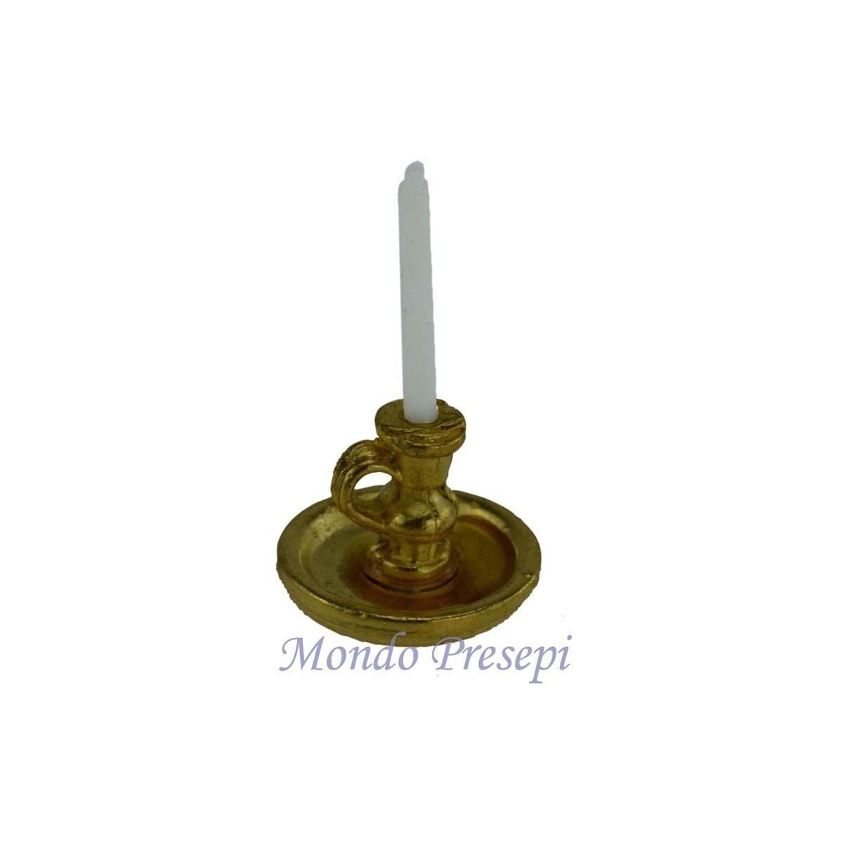 bugia con candela cm 3 h mondo presepi
