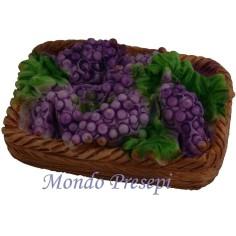 Cesto rettangolare di uva cm 5 in resina