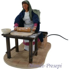 The woman at the well, 30 cm, in motion - free Shipping!