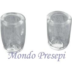 Mondo Presepi Set 2 Bicchieri in vetro mm 5x8