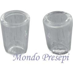Set 2 Bicchieri in vetro mm 5x8