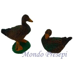 Set of 6 geese resin cm 4