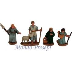 Cm 3,5 adorante, pastore, donna con anfora