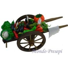 Mondo Presepi Carretto con frutta e verdura