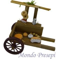 Mondo Presepi Carretto con formaggi cm 12x7