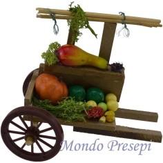 Mondo Presepi Carretto con frutta e verdurai cm 12x7