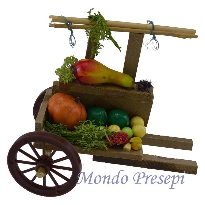 Cart with fruit and greengrocers cm 12x7