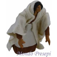 Mondo Presepi Donna inginocchio cm 15 snodata