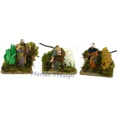 Set of three King magi in motion 10 cm Landi
