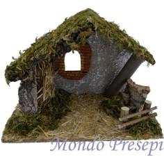Mondo Presepi Capanna artigianale cm 35x17,5x23 h.