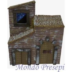Mondo Presepi Casa con portone cm 19x10x22 h.