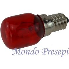 Mondo Presepi Lampada rossa 15W - E14