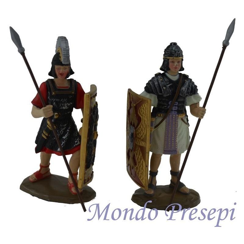 Set 2 soldati con scudo e lancia - 3353
