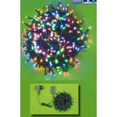 Catena Led natale 180 Multicolor Ø5mm con controller per interno e esterno