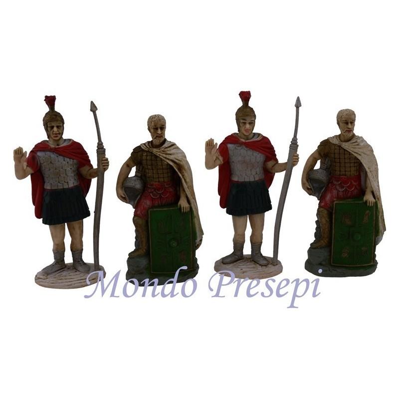 Mondo Presepi Set 4 centurioni romani cm 10 - Cod. Z1R4