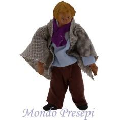 Bambino in piedi snodato terracotta vestito