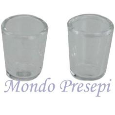 Set 2 Bicchieri in vetro 12x15 mm