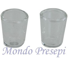 Set of 2 Glasses, glass 12x15 mm