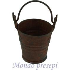 Bucket Ø 3 cm rusty metal