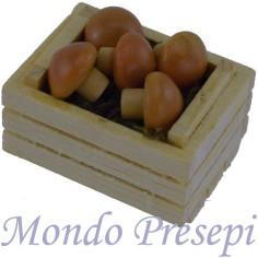 Mondo Presepi Cassetta cm 3,5 due listelli con funghi