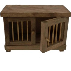 Cage in wood for animals campaign