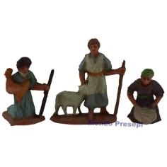 Cm 3,5 Lavandaia, pastore, contadino