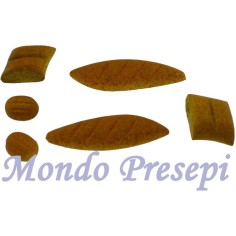 Busta 6 panini assortiti cm 1-4 Mondo Presepi