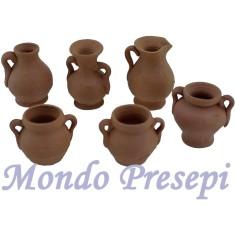 Set of 3 amphorae cm 3 in terracotta