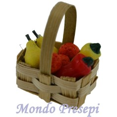 Basket with fruits and vegetables ø 3.5 cm