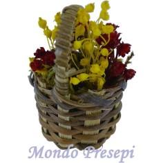Mondo Presepi Cesto con fiori ø 2,5 cm