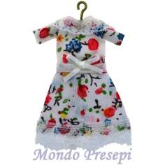 Mondo Presepi Appendiabito con vestito bianco a fantasia