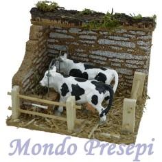 Mondo Presepi Stalla con mucche 12x9x9