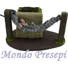Dormant landi on the hammock in motion
