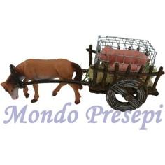 Mondo Presepi Carro con maialini