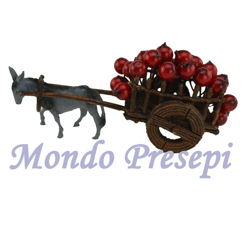 Apple wagon with donkey