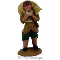 Mondo Presepi Cm 4,5 Pastore con pecora