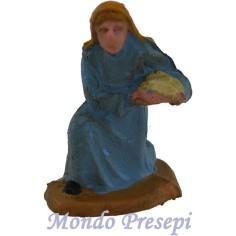 Mondo Presepi Cm 4,5 Donna con dono