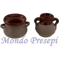 Set of 2 amphora aged ø 3.5