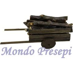 Mondo Presepi Carro cm 13,5 con legna