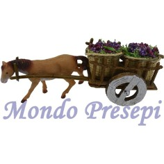 Wagon with grapes