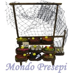 Banco piccolo con frutta e verdura - Cod. D22
