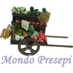 Mondo Presepi Carro con verdura e frutta