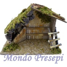 Mondo Presepi Capanna in legno e sughero cm 30x12x22