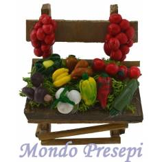 Mondo Presepi Banchetto frutta verdura cm 5